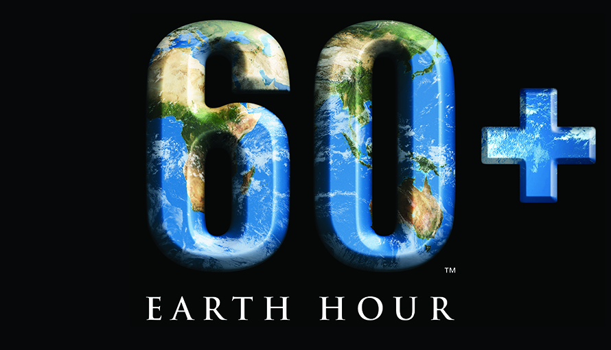 Earth hours logotyp.