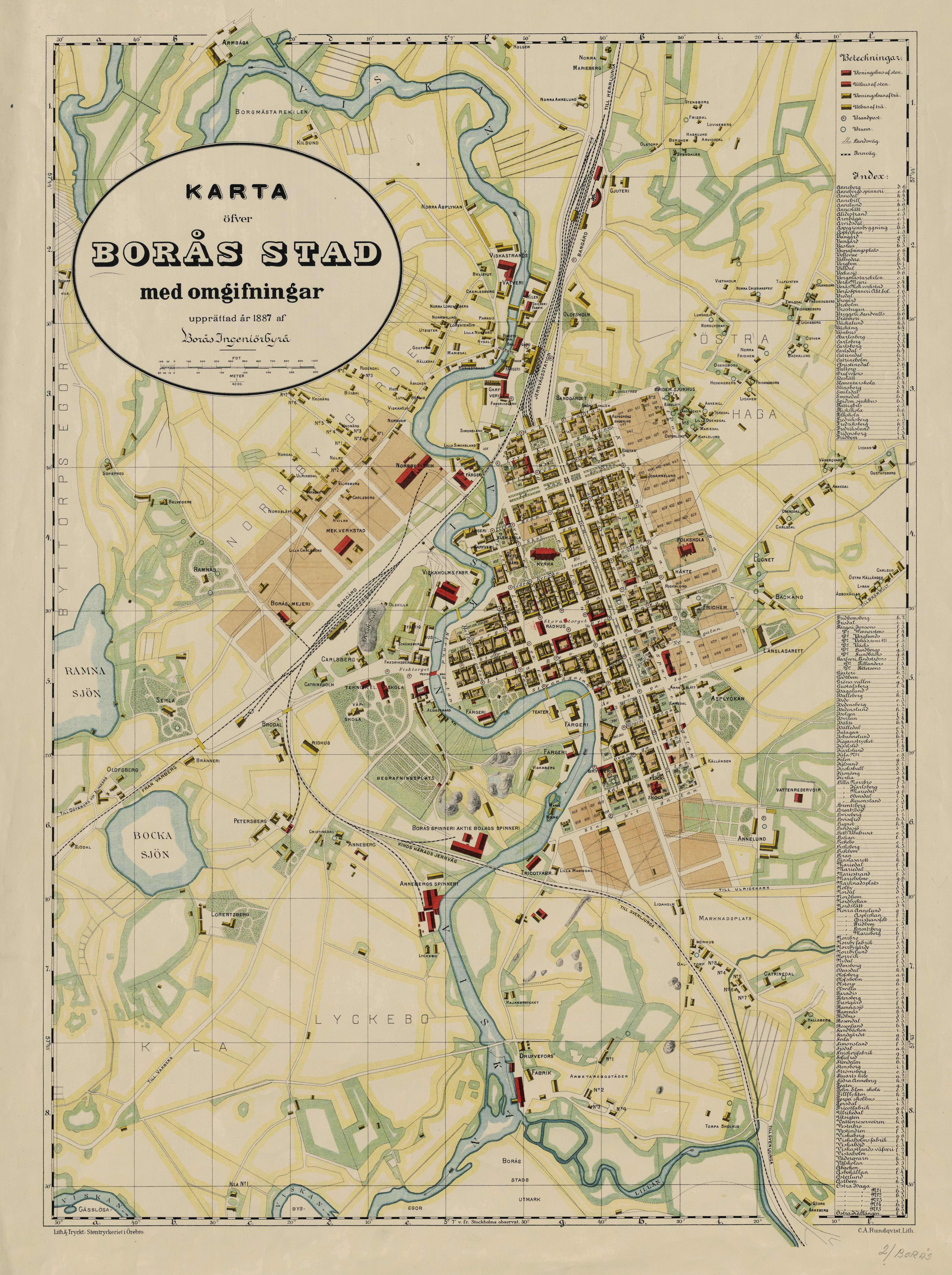 Karta Skulpturer Boras.Anvand Arkiven Boras Stad