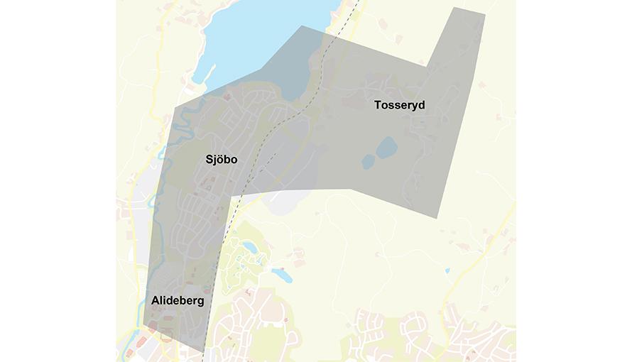 karta över sjöbo